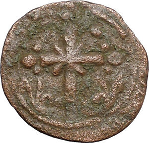 JESUS-CHRIST-Class-I-Anonymous-Ancient-1078AD-Byzantine-Follis-Coin-CROSS-i48194
