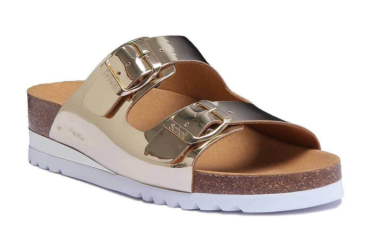 Scholl Glam Ss2 Size Womens Gold Synthetic Sandal Size Ss2 b8555a