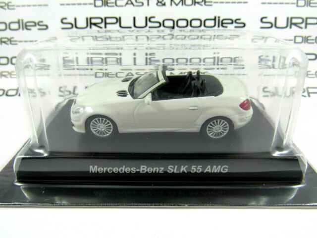 KYOSHO 1:64 Scale Minicar Collection White MERCEDES-BENZ SLK 55 AMG +Plastic Box