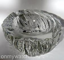 MAGNiFiCENT Murano Bowl BARBiNi SiGNED Sculptural Italian ArT GLaSs Crystal Dish