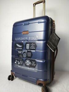 240 New London Fog Brentwood 24 Hardside Spinner Suitcase Luggage Blue 44142842449 Ebay