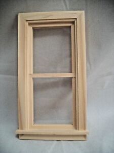 WINDOW-2-9-15x5-1-16-034-Traditional-non-working-dollhouse-1-12-scale-wood-5032