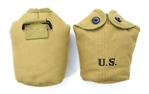 M1910-US-Army-WW2-Water-Bottle-Pouch-Cover-Carrier-Webbing-1940-039-s-Repro
