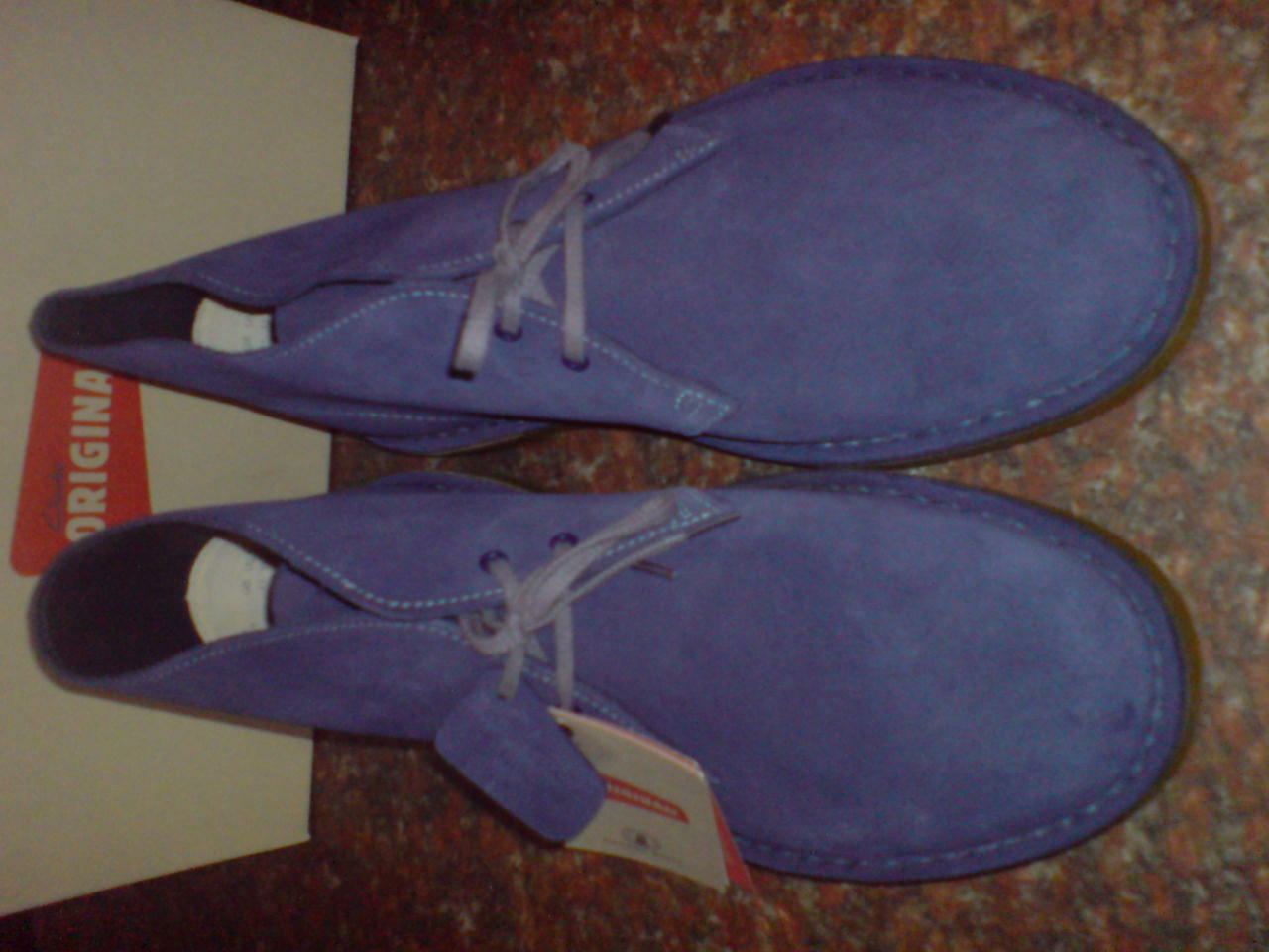NUOVE Clarks original original original Uomo ** Deserto Stivali in pelle scamosciata blu scuro ** ** F 463bff