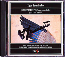 Christoph von DOHNANYI Signed STRAVINSKY L'Oiseau de feu Jeu de cartes CD PRAGA