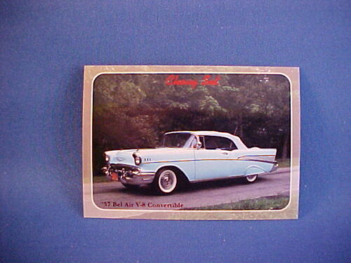 1957 Chevy Bel Air convertible collector card from set--mint/brand new 57 BelAir
