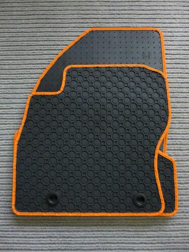 NEU $ $$$ Gummimatten für Smart Roadster 452 Fußmatten Gummi RAND ORANGE