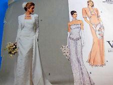 Vintage Vogue Bridal Wedding dress Original 2590 Sz 6-8-10 Uncut Factory folded
