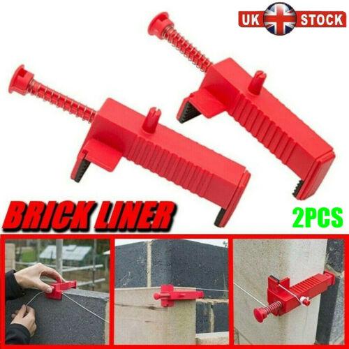 2pc 3.7-5 Inch Brick Line Clips Line Runners  Masonry Tools Brick Liner Tool UK