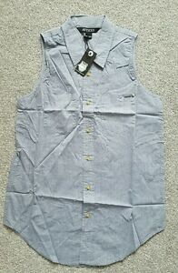 Atticus-Woman-039-s-Pale-Blue-Eyes-Denim-look-Shirt-UK-Size-L-Brand-New-With-tags
