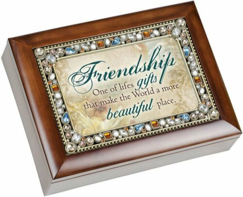 Friendship One of Life/'s Gifts Lid Music Box Finish That/'s What Friends Are For