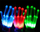 Colorful Lighting LED Flashing Finger Light Up Gloves for Rave Party Halloween