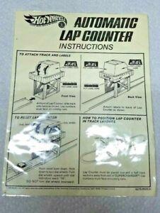 VINTAGE HOT WHEELS REDLINE 1969 mattel AUTOMATIC LAP COUNTER INSTRUCTION SHEET