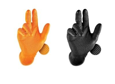 50x GRIPPAZ Schutzhandschuhe NITRIL Einweghandschuhe Handschuhe SCHWARZ Größe XL