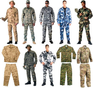 862c90fc2e813 BDU Cargo Pants OR Shirt Camouflage Tactical Military Combat Uniform ...