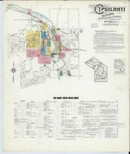 Decatur Alabama Sanborn Map© sheets made in 1888~~~10 maps on a CD