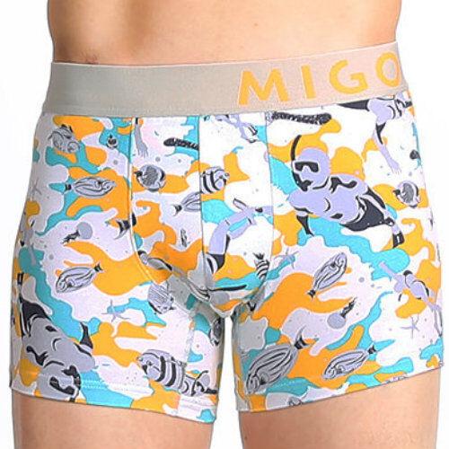 MIGO Grey Snorkeling Boxer Mens Underwear