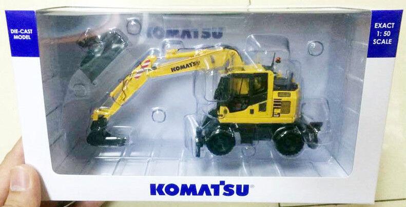 Nueva escala 1 50 UH8083 Komatsu PW148-10 con Soporte y cubo de limpieza de zanjas
