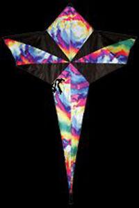"Kite Tie Dye Star Shape 46"" x 36"" Kite with Winder & String..12... SKD 01087"