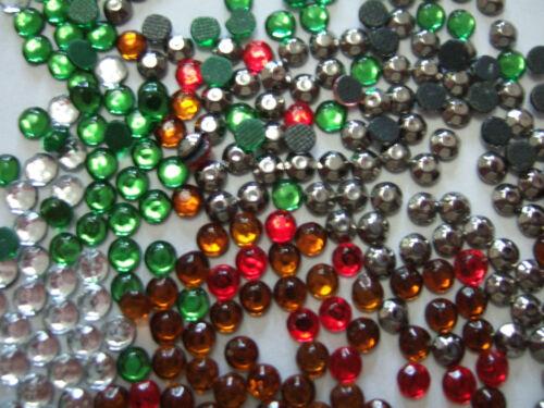 FANTASTIC PRICE Mixed Coloured glass rhinestones 3 mm x 500