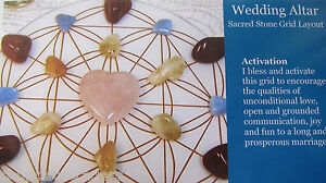 1-Grid-Layout-Card-WEDDING-ALTAR-4-034-x5-034-Cardstock-Healing-Crystals-MARRIAGE-LOVE