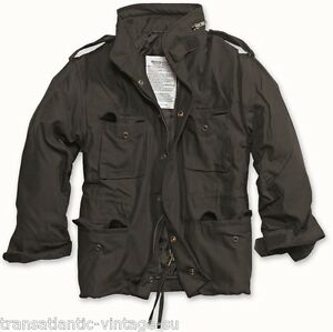 M65-COMBAT-FIELD-JACKET-MENS-VINTAGE-TYPE-MILITARY-ARMY-COAT-QUILTED-LINER-BLACK