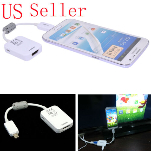 2.0 MHL Micro USB a HDMI 1080P HDTV Cable adaptador para Samsung Galaxy S5 S4 S3