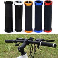 Pair Double Lock On Locking BMX MTB Mountain Bike Cycle Bicycle Handle Bar Grips
