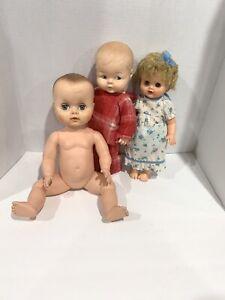 Vintage-Baby-Dolls-1960s-1970s-Kaysam-Lorrie-Uneeda-Dew-Drop