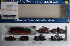 Fleischmann HO 4884 Zugset Güterzug Preussen BR 5353 KPEV  (CD/002-125S9/7)
