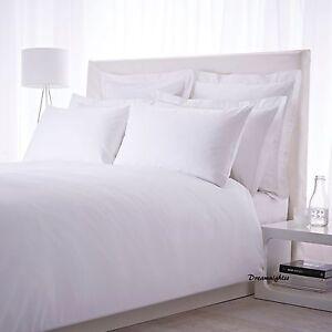 LUXURY-300-THREAD-COUNT-100-EGYPTIAN-COTTON-WHITE-Duvet-Cover-amp-Pillow-Case-Set