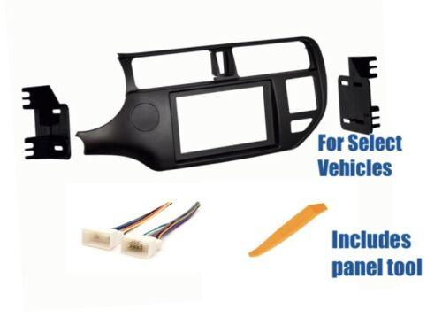Double Din Car Stereo Radio Dash Wire Kit Combo for 2012-2014 2015 Kia Rio Rio 5