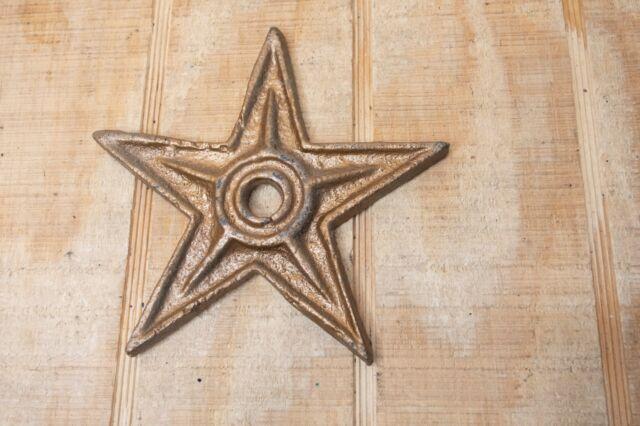 Antique Architectural Decorative Cast Iron Barn Stars 6