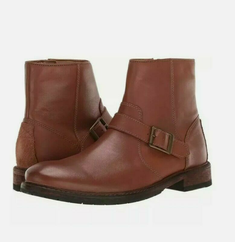 New Clarks Clarkdale Size 7 G Spare Dark Tan Leather Men Boots, NIB