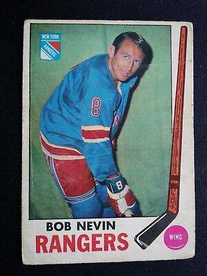 1969-70 O-Pee-Chee Hockey Card # 40 Bob Nevin - New York Rangers | eBay