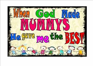 mother plaque mummy wall sign mum mothers day gift personalised mom