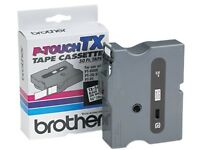 Brother Tx-2411 Tx Tape Cartridge For Pt-8000, Pt-pc, Pt-30/35, 3/4w, Black On W on sale
