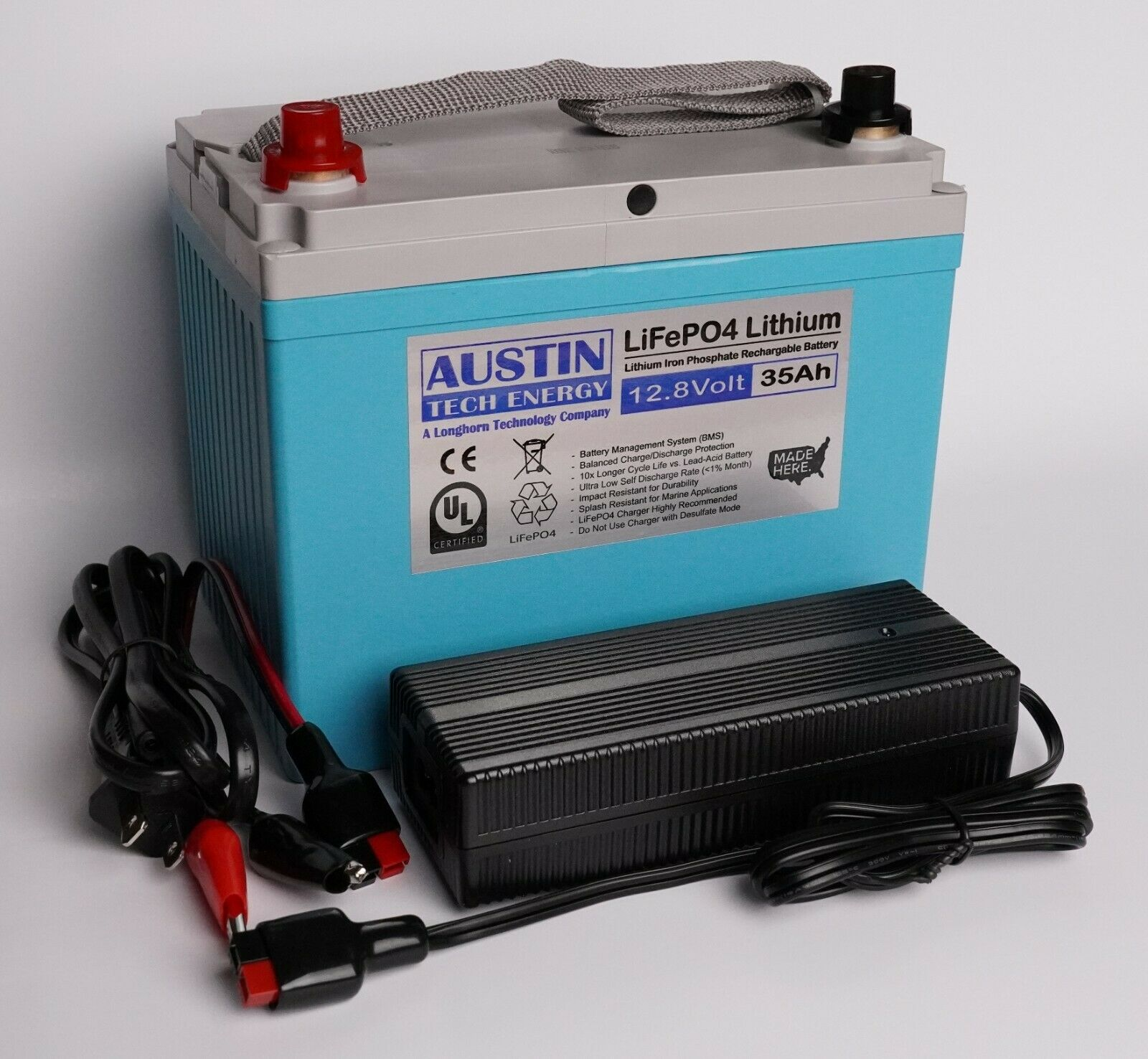 *****FREE 4A Charger***** LiFePO4 12.8-Volt 35Ah Lithium Iron Phosphate Battery