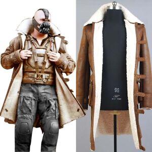 Batman Bane Dorrance Leather Trench Coat Cosplay Costume