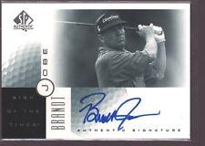 BRANDT JOBE 2001 SP AUTHENTIC PGA GOLF ON CARD AUTOGRAPH AUTO $12