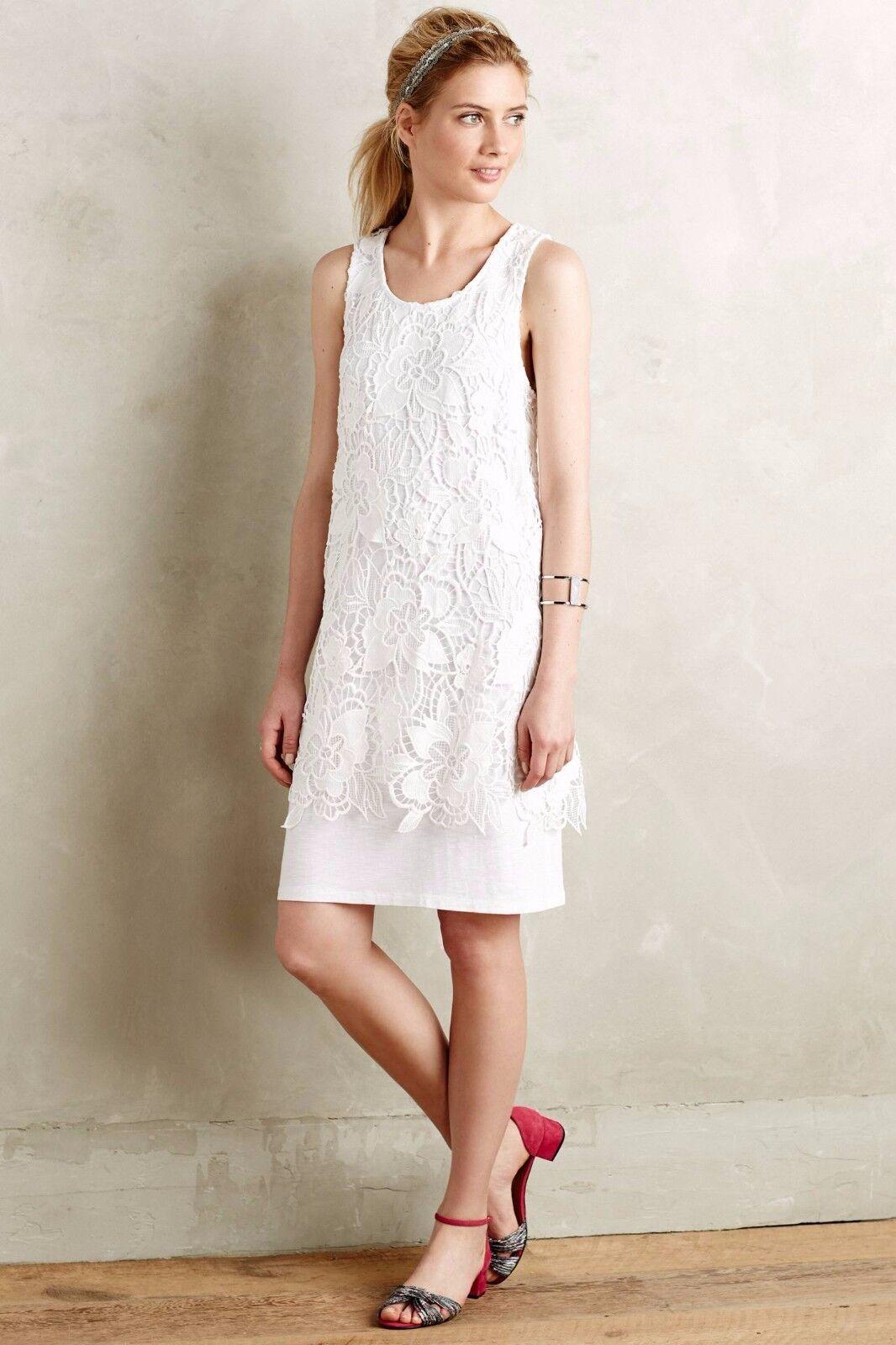 NEW Anthropologie Ingela Lace Dress by Dolan Left Coast ,White, Sz S,