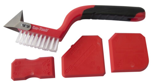 AmTech 4Pc Caulking Grout Remover Sealant Silicone Finishing Cleaning Tool Set