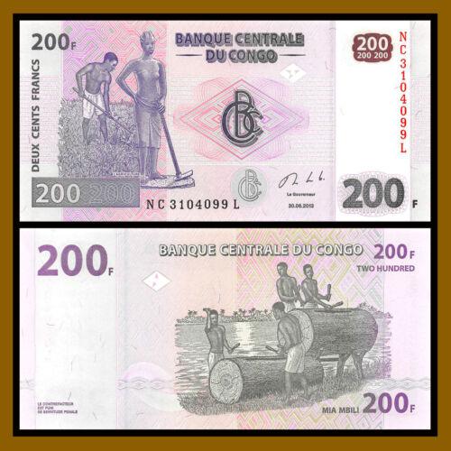 2013 P-99 Unc Congo Democratic Republic D.R 200 Francs