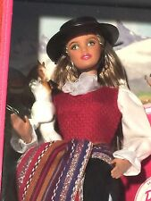 Passport Chile Barbie Chilean Cowboy Colorful Sash Ruffled Lace Knee High Boots