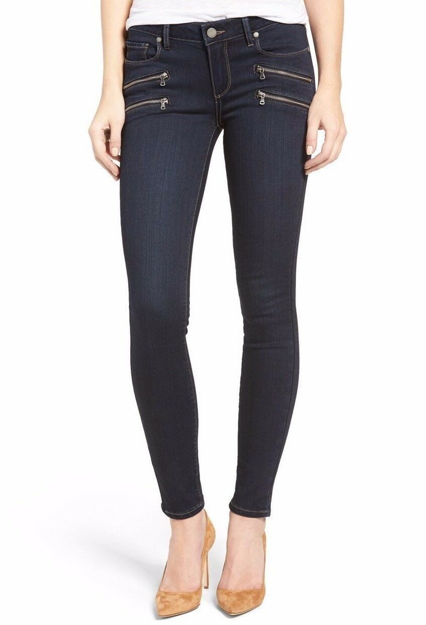239 NWT PAIGE Sz24 TRANSCEND EDGEMONT MID-RISE SKINNY STRETCH DAYTON N WHISKERS