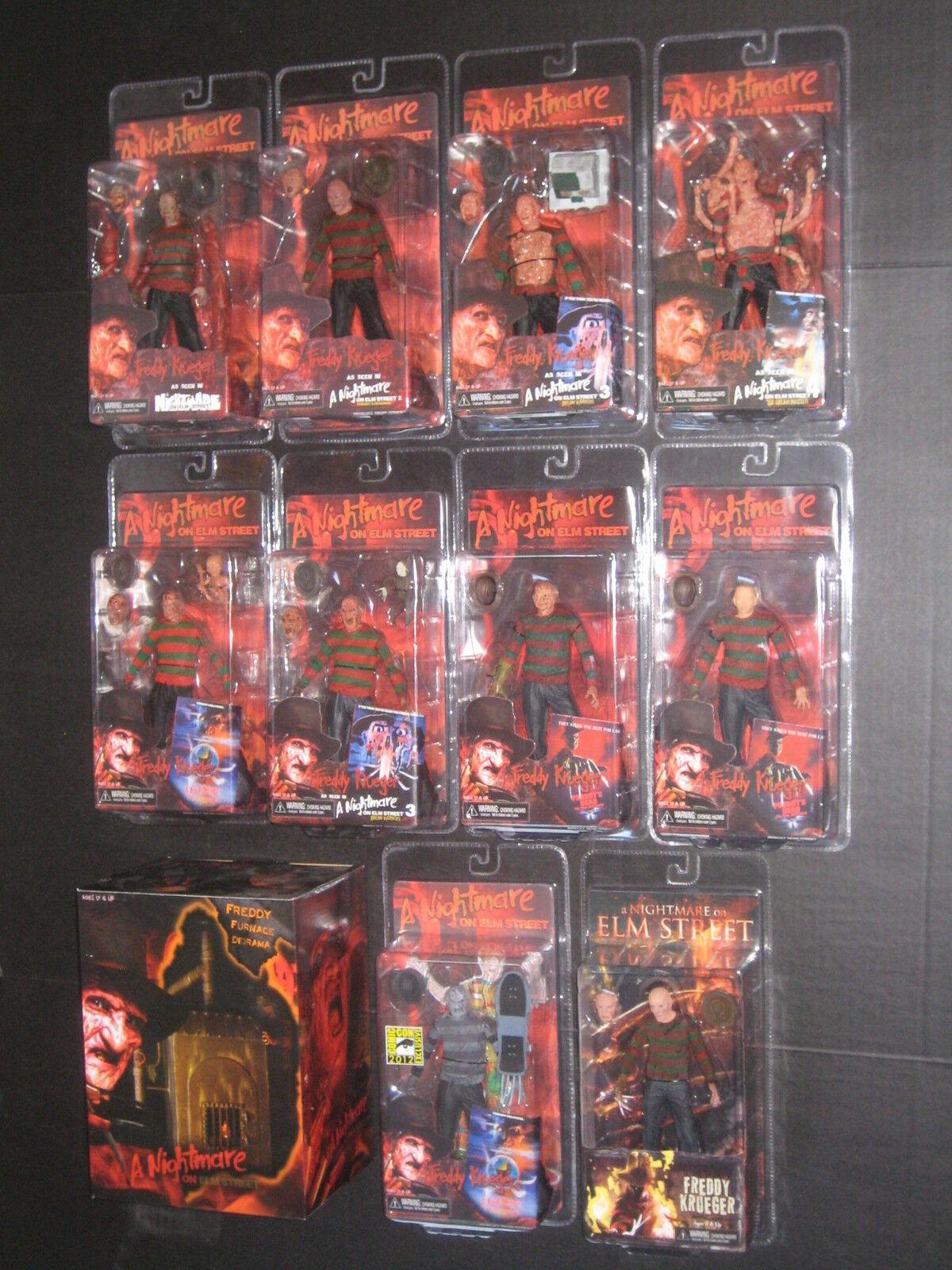 Nightmare Elm Street Frougedy Krueger série 1-4 Figurines NECA Angleterre San Diego comic-con Four