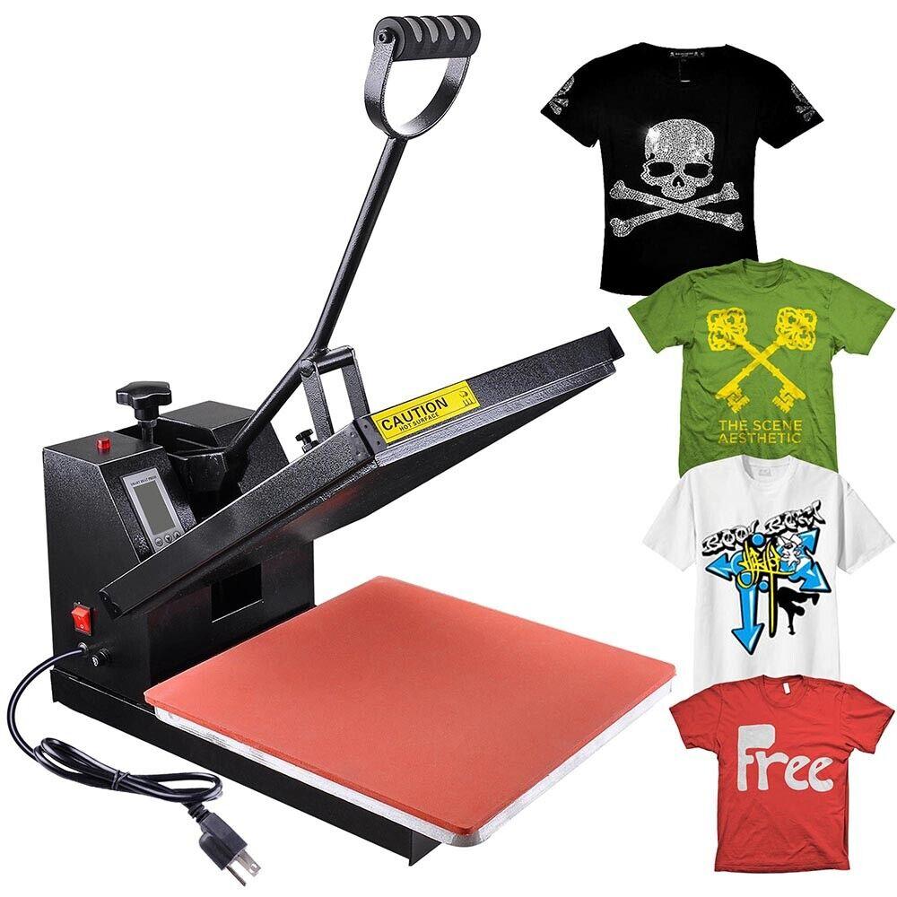 Heat Press Machine 15 x 15 in High Pressure Sublimation T-shirt Printer Machine