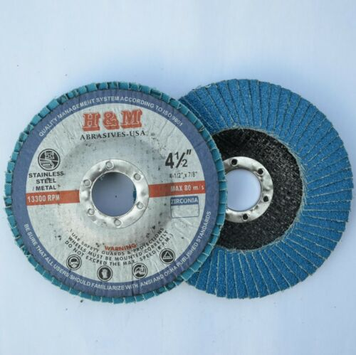 """200 Flap Disc 4-1//2/""""x7//8/"""" Zirconia 80 Grit for Stainless Steel /& Metal Type 29"""