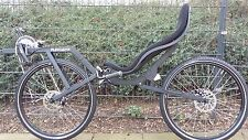 "Ruote reclinate Ligfiets Reclinata Flevo Bike Racer 26""ruote Freni a disco Nero"