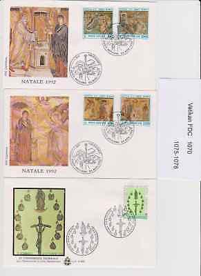 Vatikan Briefmarken Vatikan Ersttagsbriefe Fdc 2 Stück 1070,1075-1078 So Effektiv Wie Eine Fee
